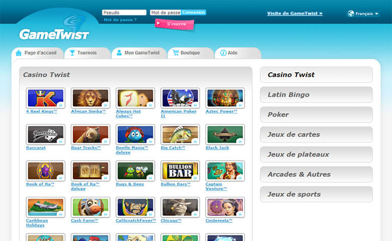 online casino sites twist game casino