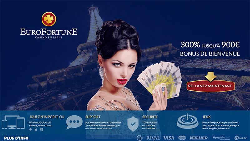 accès au bonus d'eurofortune