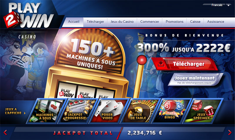 Play2win casino gratuit