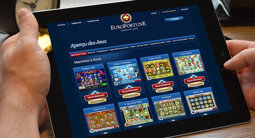 Eurofortune machines à sous des centaines de jeux