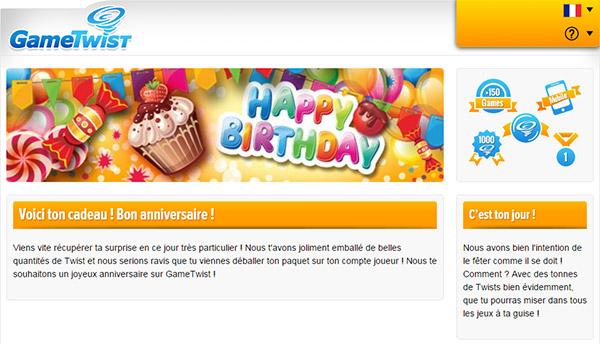 gametwist bonus anniversaire 5000 twists offerts gratuitement