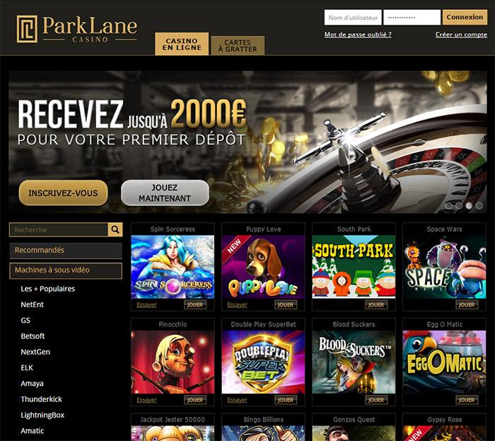 Des centaines de jeux disponibles chez Parklane Casino