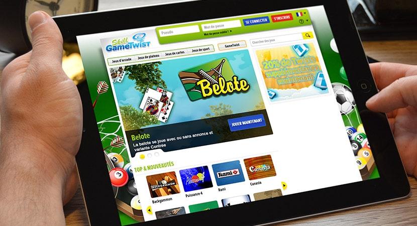 page d'accueil du casino gametwist